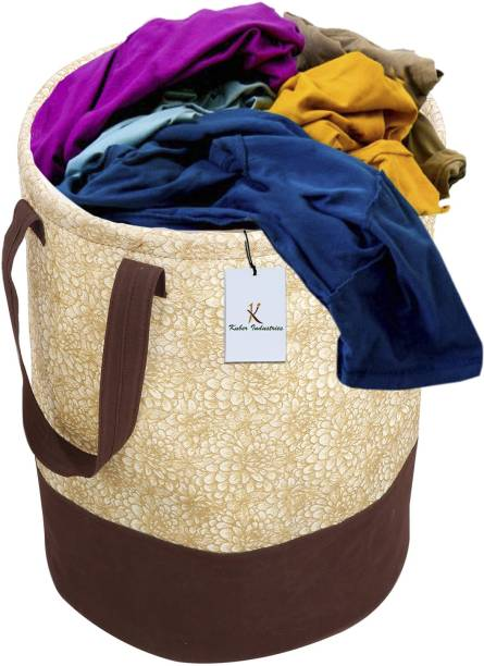 KUBER INDUSTRIES 45 L Brown Laundry Bag