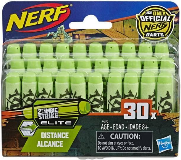 Nerf 30 Dart Zombie Strike Refill Pack for N-Strike Elite AccuStrike Zombie Strike Modulus Toy Blasters Darts & Plastic Bullets
