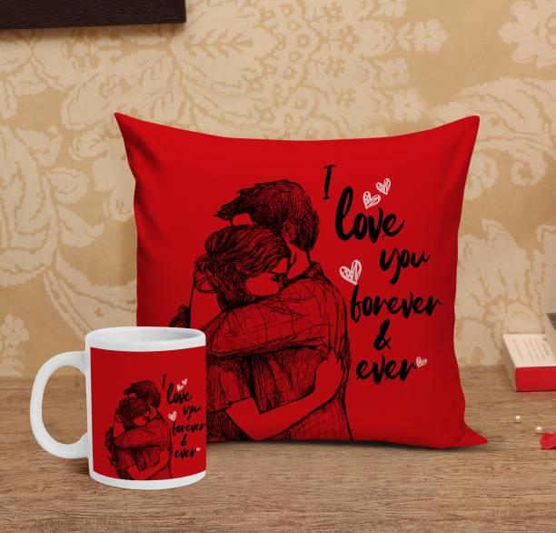 TIED RIBBONS Mug, Cushion Gift Set