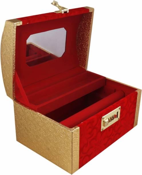 Topko leathers Wooden Handmade Jewellery Box for Women AEJWB001 Multi Purpose Vanity Box