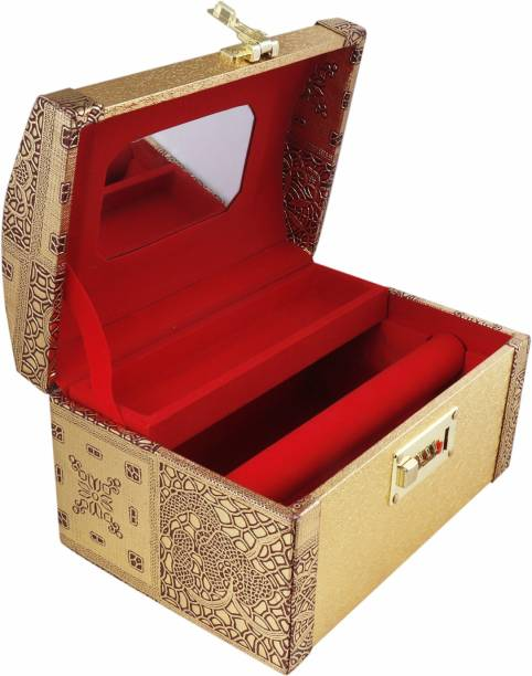 Topko leathers Wooden Handmade Jewellery Box for Women AEJWB004 Multi Purpose Vanity Box