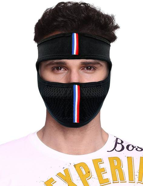 Hind Home Black Bike Face Mask for Men & Women