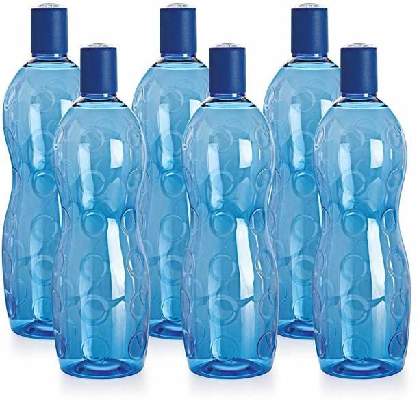 cello Polka Water Bottle (Pack of 6) 1000 ml Bottle