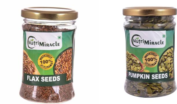 NUTRI MIRACLE flax pumpkin seeds combo pack