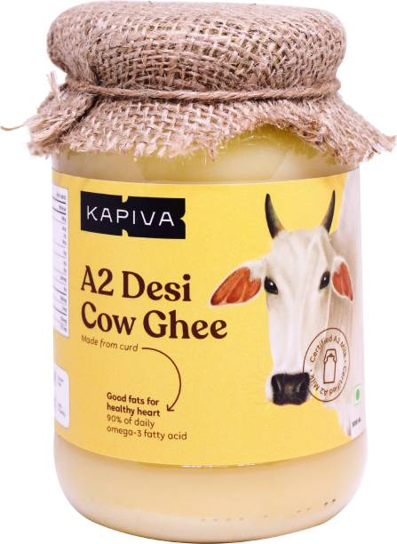 Kapiva A2 Desi Ghee (Helps Reduces Joint Pain and Improves Heart Functioning) - 500ml Ghee 500 ml Glass Bottle