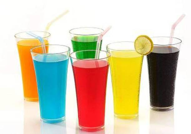 MR Products (Pack of 6) Cool Glass Set of 6 Water Glass / Juice Glass / Drinking Glass Set Glass Set