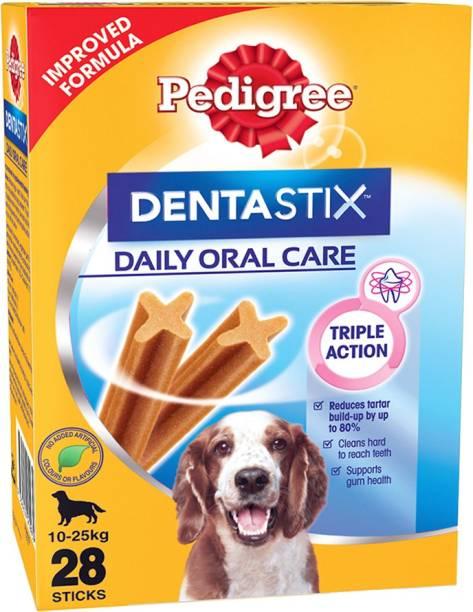 PEDIGREE Dentastix Oral Care for Adult Medium Breed (10-25kg), Monthly Pack (28 Sticks) Dog Treat