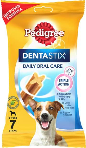 PEDIGREE Dentastix Oral Care for Adult Small Breed (5-10kg), Weekly Pack (7 Sticks) Dog Treat
