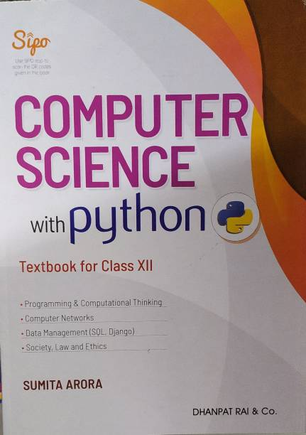 Computer Science With Python For Class 12 For ( 2020-2021) Examination