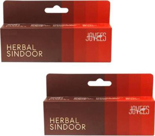 JOVEES Red Herbal Sindoor (Pack of 2) Sindoor