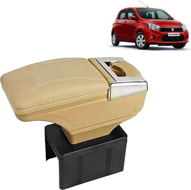 aksmit Arm Rest Console Beige With Glass Holder And Ashtray For Celerio_BGNAR956 Car Armrest