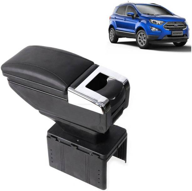 aksmit Arm Rest Console Black With Glass Holder And Ashtray For Ecosport_NAR67 Car Armrest