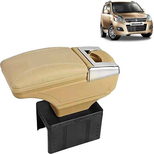 aksmit Arm Rest Console Beige With Glass Holder And Ashtray For WagonR_BGNAR975 Car Armrest