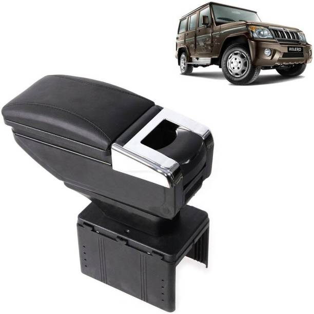 aksmit Arm Rest Console Black With Glass Holder And Ashtray For Bolero_NAR117 Car Armrest