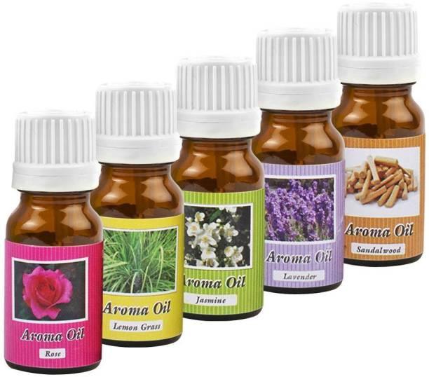 homedecor anurudh lemongrass, Jasmine, lavender, Rose, Sandalwood Aroma Oil, Diffuser, Aroma Oil