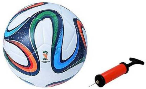 DIBACO SPORTS Four Color Football with Inflating Air Pump Football - Size: 5