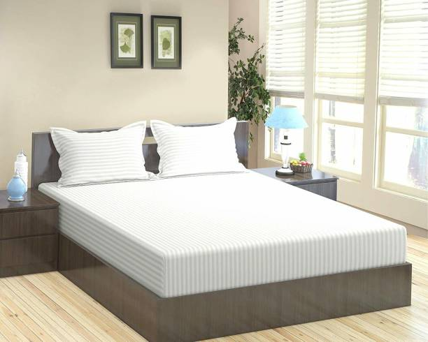 Home Elite 300 TC Cotton Double King Striped Bedsheet