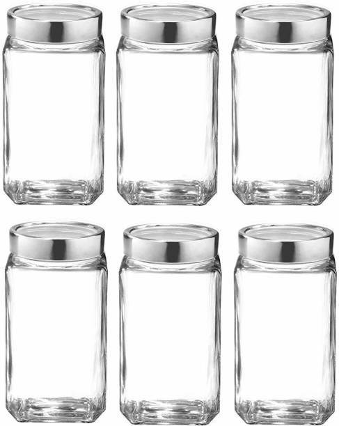 crownsmill 1000 ml cube jar  - 1000 ml Glass Bread Container