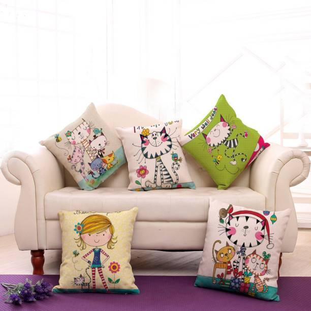 Desi Kapda Cartoon Cushions Cover