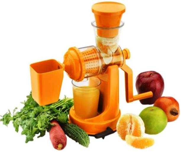 AKADO Plastic Hand Juicer Plastic Manual Fruit and Vegetable Juicer with Steel Handle and Vacuum Locking System