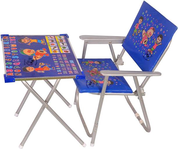 Avani MetroBuzz Kids Study A To Z Table Blue Fabric Desk Chair