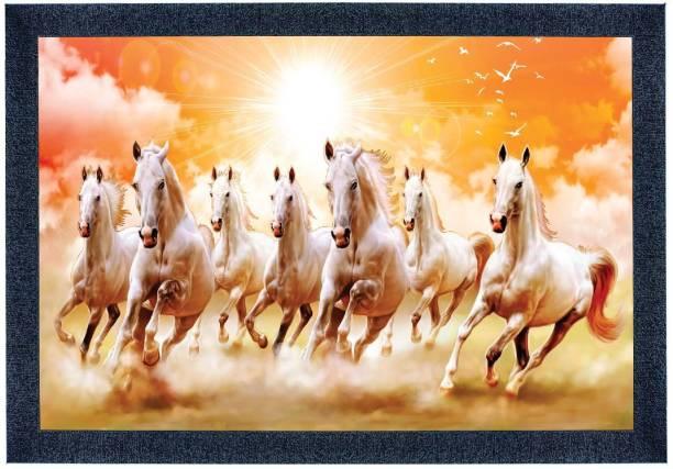 SAF AF 7 Horses Framed Digital Reprint 11 inch x 14 inch Painting