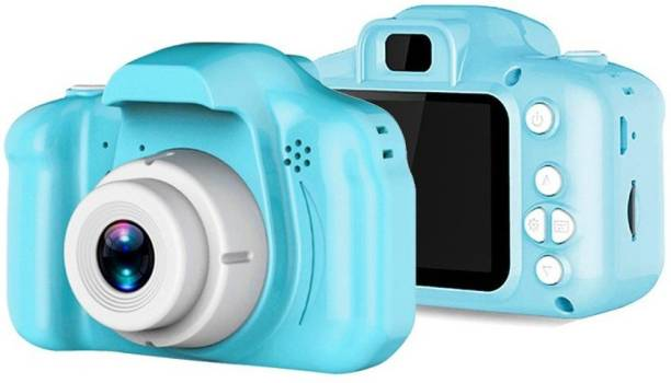 HALO NATION CAM-X2 Digital Video Camera, 5.0MP Rechargeable Camera Shockproof 1080P HD Camcorder for Kids Toddler Indoor Outdoor Travel (Memory Upto 32GB- SSD Card Not Included) (CAMERA-X2-BLUE)