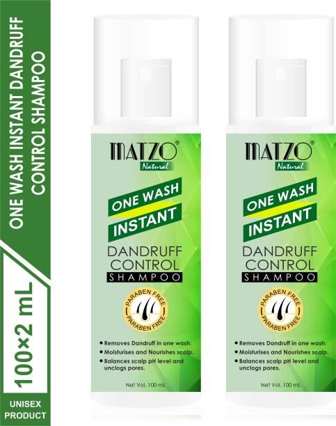 Matzo Natural One Wash Instant Dandruff Control Shampoo,