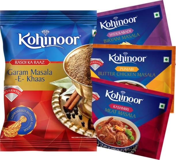 KOHINOOR Garam, Biryani, Butter Chicken, Meat Masala Spices Combo