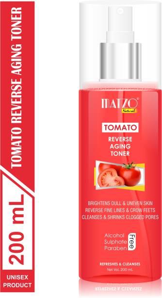 Matzo Natural Tomato Reverse Aging Skin Toner, No Alcohol, No Sulphate, No Paraben Men & Women