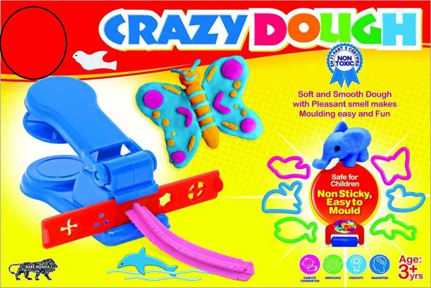 shopviashipping Crazy Dough Clay Set with Machine for Kids to Convert Their Imagination to Reality