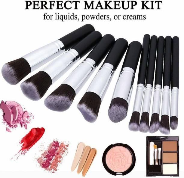 DUcare 10 Pcs Makeup Brushes Set Tool Pro Foundation Eyeliner