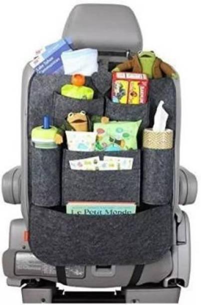 Mankrit Car Back Seat Storage Bag For Mobile / Car Documents Paper / Bottle / Tissue Paper Car Multi Pocket Car Storage Bag & Bin