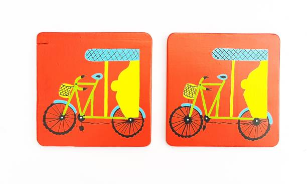 Scrapshala Square Wood Coaster Set
