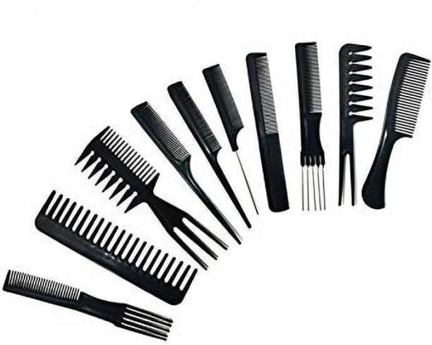 Vreeny Professional Hair brush 10 PCs Set Make saloon at yore home