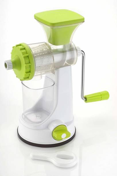 Abheesht Plastic Hand Juicer Manual Juicer for Fruits and Vegetables | Non-Electric Juicer with Steel Handle and Waste Collector