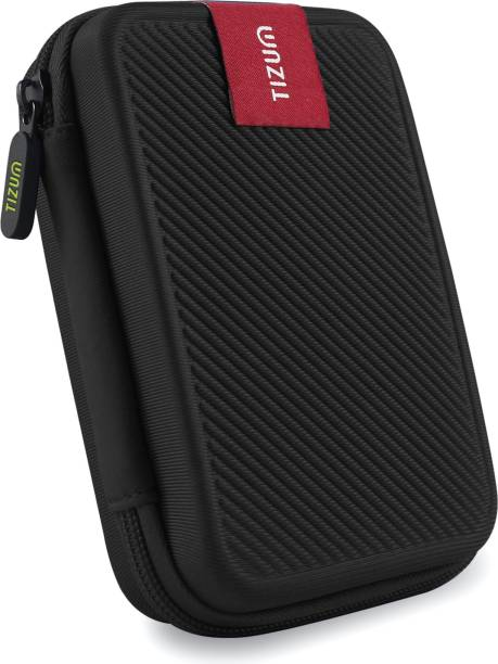 """Tizum Pouch for 2.5"""" External Hard Drive (Double Padded)"""