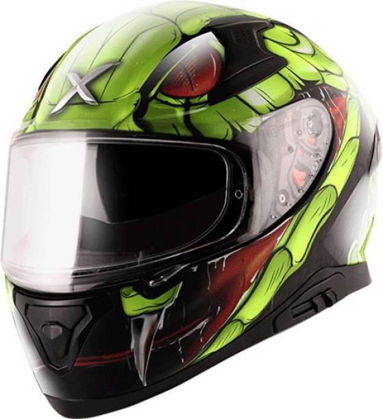 Axor Apex Venomous Black Neon Green Helmet Motorbike Helmet