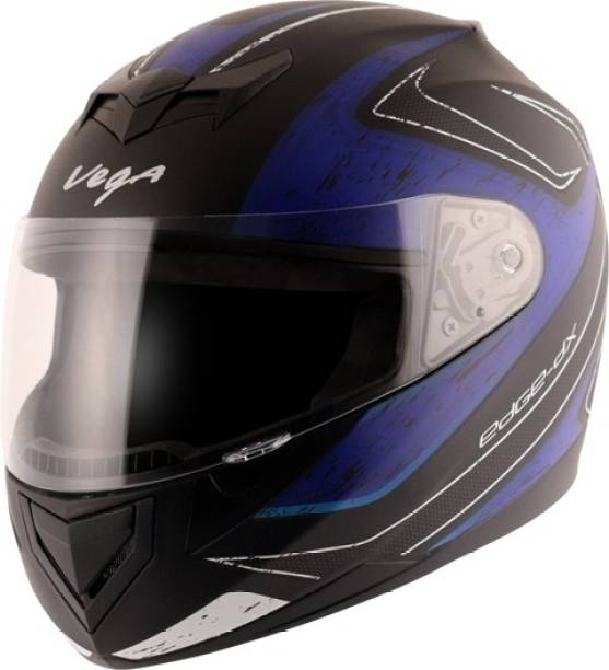 VEGA Edge Dx Crystal Dull Black Blue Helmet-L Motorbike Helmet