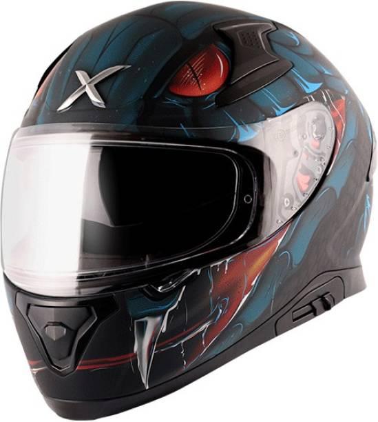 Axor Apex Venomous Dull Black Blue Helmet Motorbike Helmet