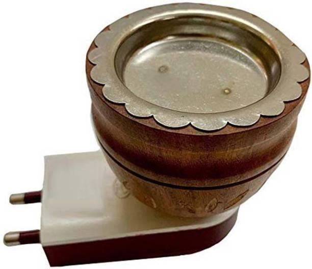 ShoppoWorld Multipurpose Electric Direct Plug-in Mini Wooden Incense Bakhoor Burner Kapoor Dani Camphor Diffuser for Fragrance Positive Energy Pooja,Kapoor dani, Kapoor Burner Wooden Incense Holder