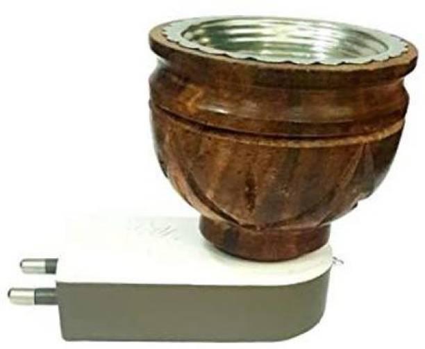 ShoppoStreet Multipurpose Electric Direct Plug-in Mini Wooden Incense Bakhoor Burner Kapoor Dani Camphor Diffuser for Fragrance Positive Energy Pooja,Kapoor dani, Kapoor Burner Wooden Incense Holder