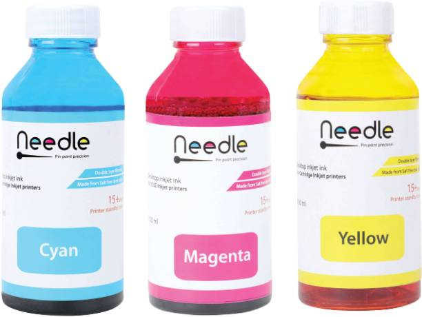 Needle 3 x 100 ml Cartridge Inkjet printer refill ink for HP 678, 802, 901, 818, 21, 22, 27, 46, 56, 57, 680, 703, 704, 803, 818, 900 for Canon CL 41, 57, 98, 99, 741, 746, 811, 831 Tri-Color Ink Bottle