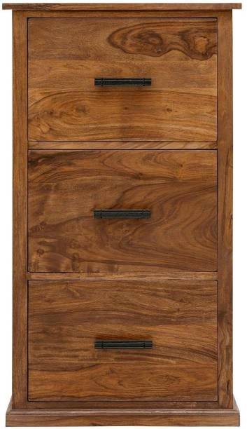 the brown wynk Solid Wood Kitchen Cabinet