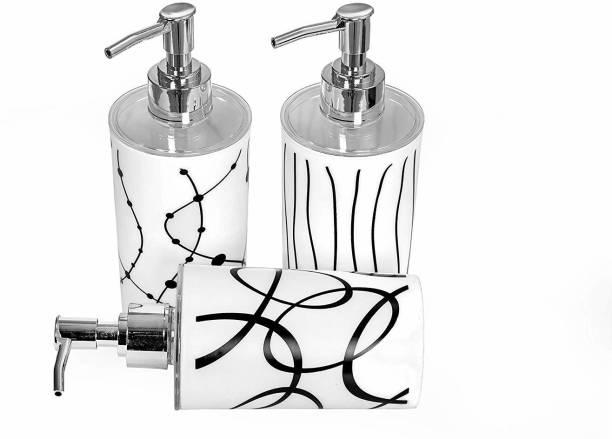 Indiginous HIGH QUALITY UNBREAKABLE Liquid Soap/Liquid/Shampoo/Hand wash/Sanitizer/Lotion Dispenser Bottle for Kitchen, Wash-Basin and Bathroom (Pack of 3) 1050 ml Gel, Lotion, Foam, Conditioner, Soap, Shampoo Dispenser