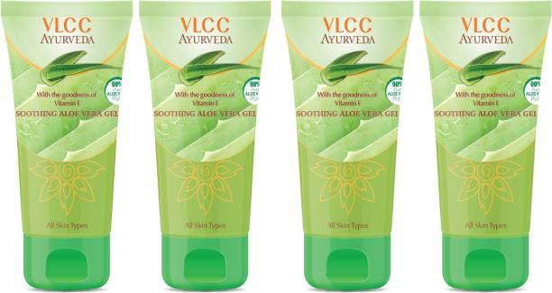 VLCC Ayurveda Soothing Aloe Vera Gel(100gm) Pack of 4
