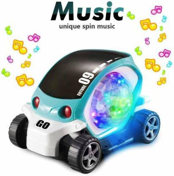 Kidz N Toys 3D 09 Electric Cars Toy for Boys Girls with Lights Music,Baby Early Educational Toys Gift for 3+ Years Old