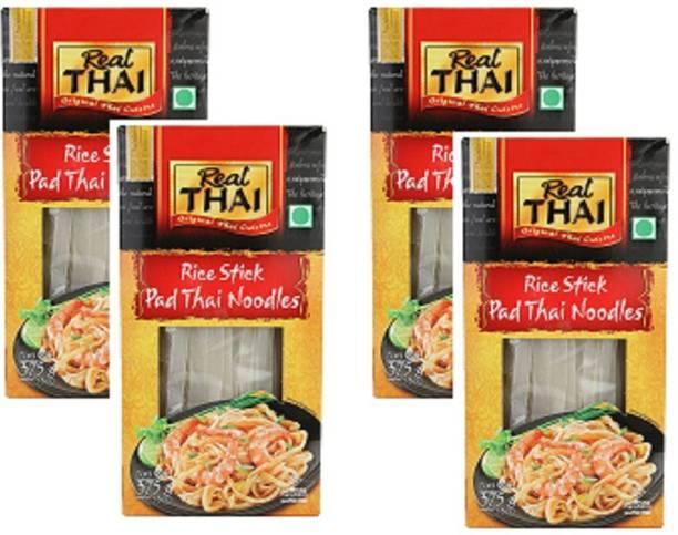 Real Thai Pad Thai Noodles, 375g Pack of 4 Hakka Noodles Vegetarian
