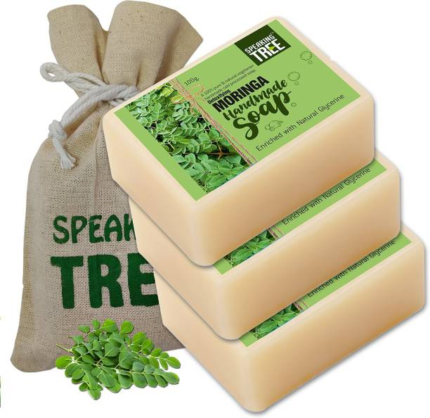 Speaking tree Detoxifying Moringa Handmade Soap (Enriched with Natural Glycerine) -100gms each Pack of 3