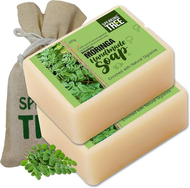 Speaking tree Detoxifying Moringa Handmade Soap (Enriched with Natural Glycerine) -100gms each Pack of 2